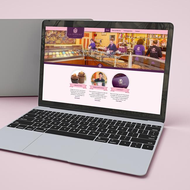 Wordpress website voor La Boheme