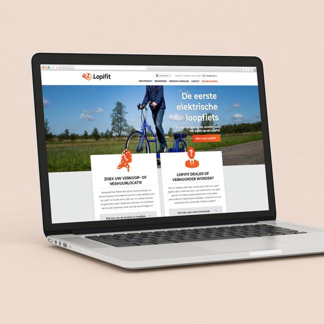 Wordpress website voor Lopifit