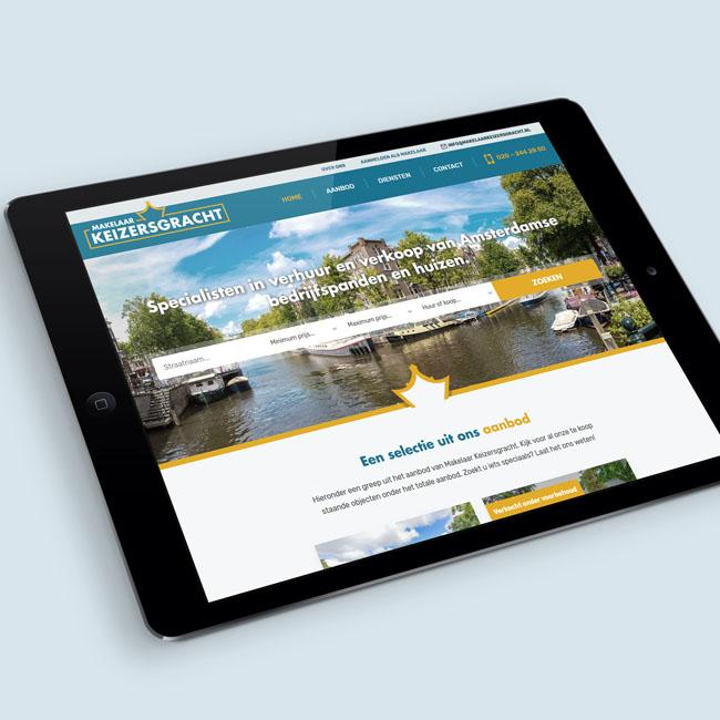 Wordpress website voor Makelaar Keizersgracht