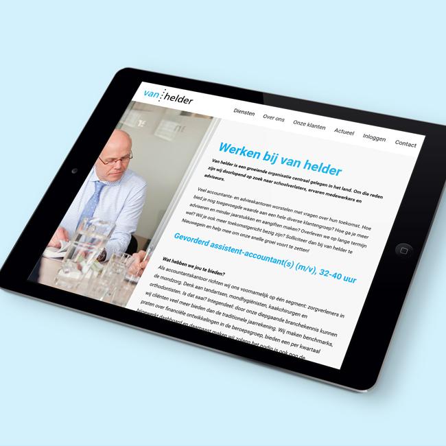 Wordpress website voor Van Helder