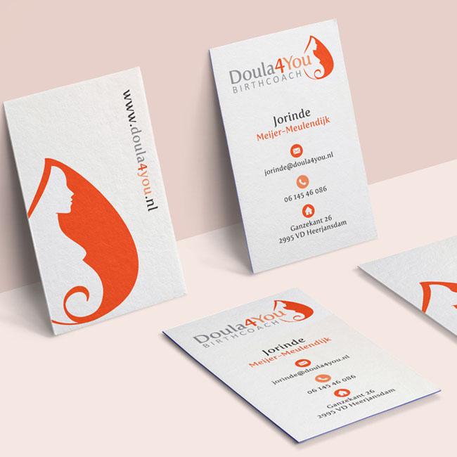 Visitekaartjes ontwerp voor Doula4You