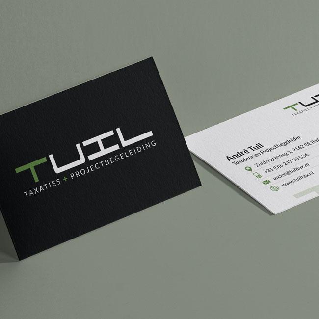 Visitekaartjes ontwerp voor Tuil Taxaties