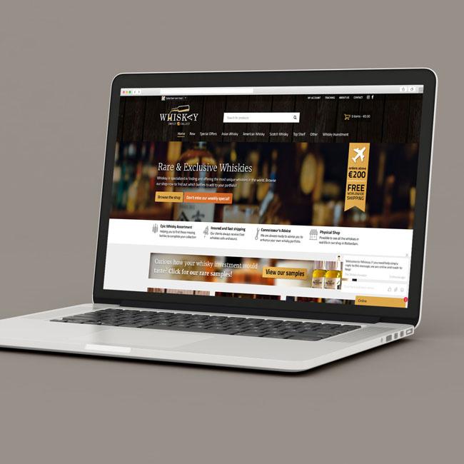 Webshop van Whiskay voorbeeld 1